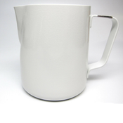 Revolution Stainless Steel White Steaming Pitcher, 30 oz