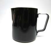 Revolution Stainless Steel Black Steaming Pitcher, 12 oz