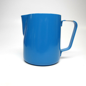 Revolution Stainless Steel Blue Steaming Pitcher, 12 oz