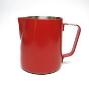 Revolution Stainless Steel Red Steaming Pitcher, 12 oz