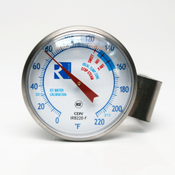 "Revolution Thermometer: 1.5"" face, 5'' stem"