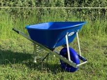 OX Wheelbarrow Blue 120L