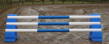 Show Pro Jump Poly Poles on Sloping Blocks