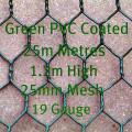 PVC Coated Dark Green Chicken Mesh 1.2m High