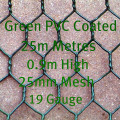 PVC Coated Dark Green Chicken Mesh 0.9m High