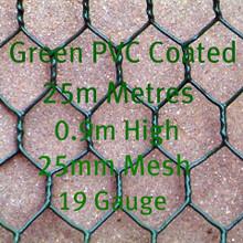 PVC Coated Dark Green Chicken Mesh 0.9m High