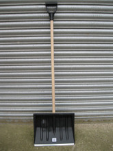 Black Snow Shovel showing the metal edging.