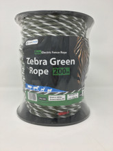 Zebra Green Electric Fence Rope 200m