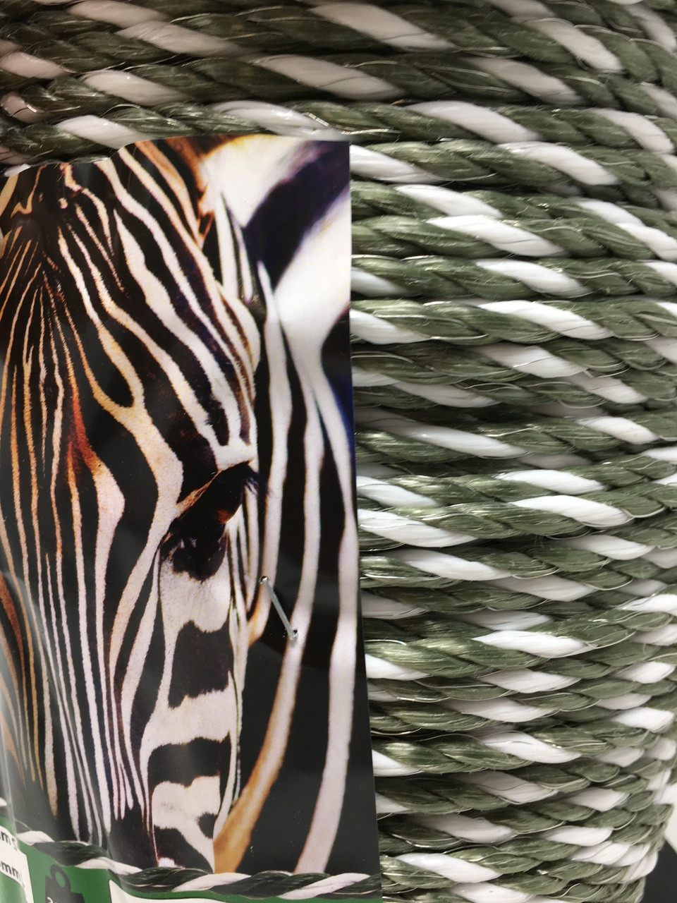 Zebra Green Electric Fence Rope 400m