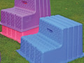 Economy Mounting Block available in pink, purple and blue