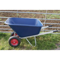 Blue 200 Litre  Poly Twin Wheelbarrow