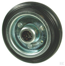 Rubber Wheel with Bearing 125mm