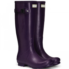 Hunter Norris Field Dark Iris Side Adjustable Boots
