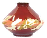 6M511  Cloisonne Ando Shippo Vase