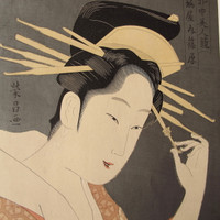 8M420 Woodblock Print Bijin / SOLD