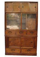 9C13 Cha Tansu with Glass 2 Section