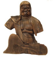 9M270 Wooden Buddhist Fudomyo