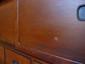Close-up view of drawer antique Japanese bookshelf