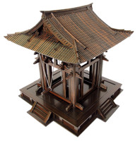 10M227 Display Temple with Gong in the Glass Case