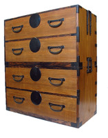 10B12 Kasane Isho Tansu 2 Section w/Secret Compartment