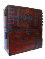 10B14 Kannon Isho Tansu 2 Section with Secret Compartment / SOLD