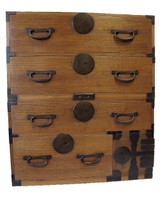 10B15 Kasane Isho Tansu 2 Section with Secret Compartment