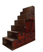 11K2 Step Tansu / Kaidan Tansu with Secret Compartment