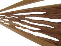 11M45 Ranma Transom Natural Wood