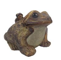 11M130 Large Frog Shigaraki Pottery