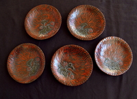 10M298 Kamakura Bori 5 Coasters A Set / SOLD