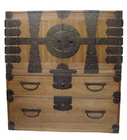12B9 Kannon Isho Tansu 2 Section with Secret Compartment