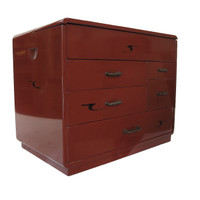 12M28 Haribako / Sewing Box Negoro Lacquer