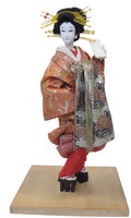 12M155 Oiran Doll with Glass Case