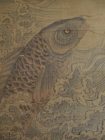 12M168 Kakejiku Scroll Koi Carp