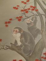 12M171 Kakejiku Scroll Saru Monkey