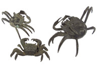 12M176 Bronze Crabs A Set 3 pcs