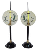 12M209 Tankei Candle Stands A Pair