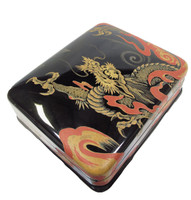 12M218 Lacquer Ink Box Dragon Motif