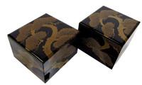 13M24 Juabko  Lacquer Stacking Box Meiji 35