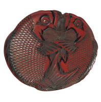 13M141 Lacquer Tray Tai Red Snapper