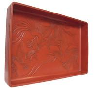 13M146 Kimono Tray Kamakura Carving Phoenix  Motif