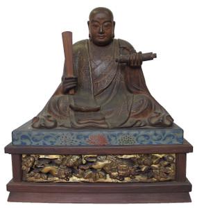 Buddhist Kobo  Daishi  statue