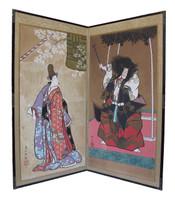 13M182 Byobu 2 Panel Kabuki