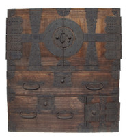 14B4 Kannon Isho Tansu 2 Section w/ Secret Compartment