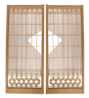 14M291 Wooden Panel Sliding Door A Pair