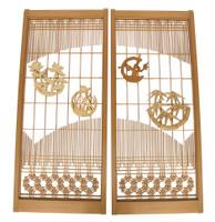 14M298 Wooden Panel Sliding Door / SOLD
