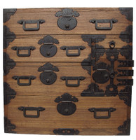 14G29 Ko Tansu with Sack Motif