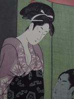 14S20 Woodblock Print Utamaro