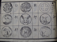 14S34 Woodblock Print Family Crest Book