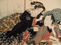 14S47 Shunga Woodblock Print